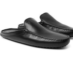 TOD'S Gommino leather slides ✔️ nwot
